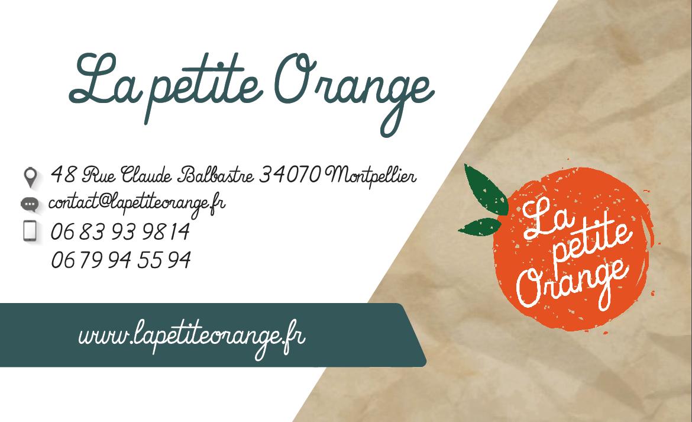 Carte de visite La petite Orange